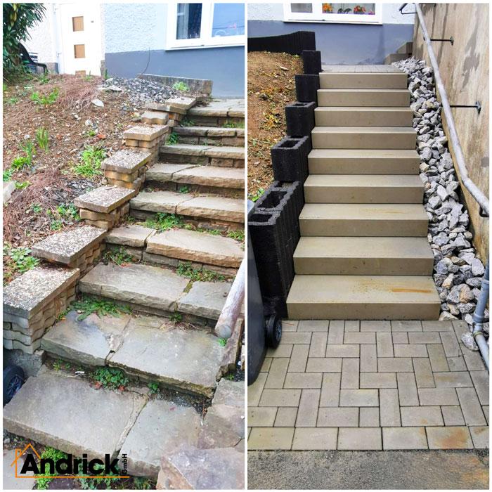 Außenanlage Treppe