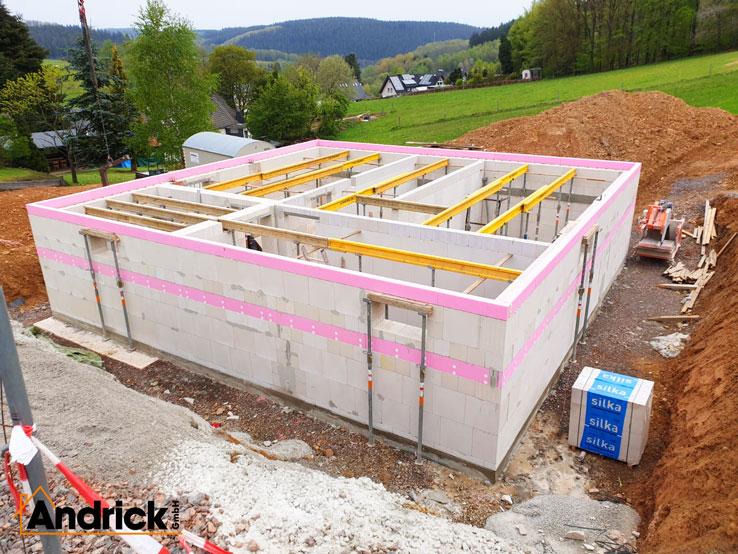 Bau eines Kellergeschosses